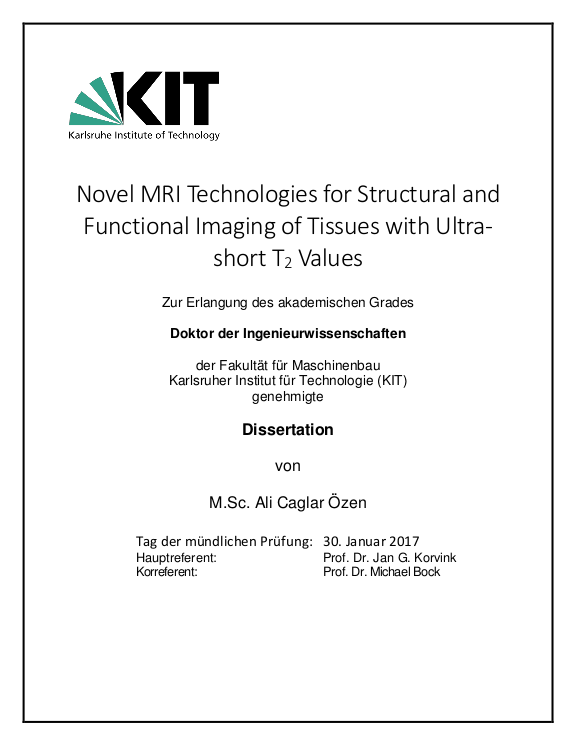 novel mri technologies for structural